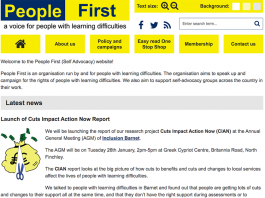 People First, a voice for people with learning difficulties
