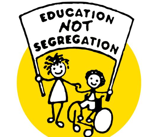 Educate not Segregate logo