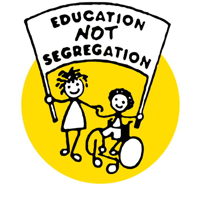 Educate not Segregate logo